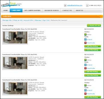 Rentsline.com Ad Display