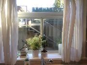 Large window in kitchen