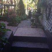 private patio area entry