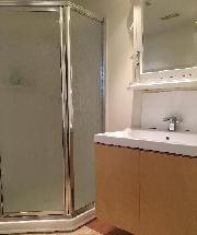 Shower and Washroom w Italian Tile
