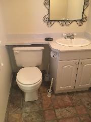 Private 1/2 bathroom