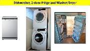 Stainless steel washer, dryer, dishwasher